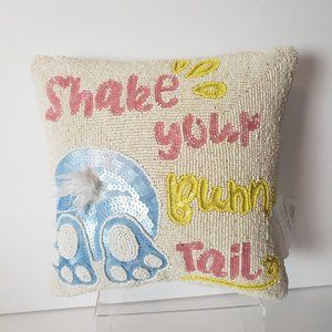 """Other - Beaded Throw Pillow Dog Lovers 11"""" X 11"""" NWOT"""